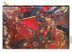 Brown, Red And Gold Carry-all Pouch