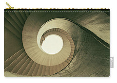 Carry-all Pouch featuring the photograph Brown Spiral Stairs by Jaroslaw Blaminsky
