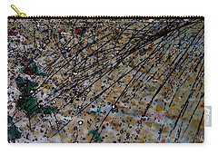 Carry-all Pouch featuring the photograph Brown Splatter by Richard Ricci