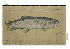 Brown Trout Carry-all Pouch by Juan Bosco