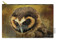 Brown Wood Owl Carry-all Pouch