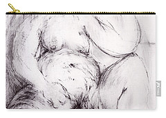 Carry-all Pouch featuring the sculpture Brownie Sitting by Robert F Battles