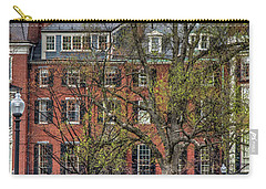 Carry-all Pouch featuring the photograph Brownstone Panoramic - Beacon Street Boston by Joann Vitali