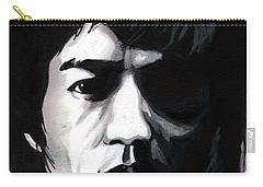 Bruce Lee Portrait Carry-all Pouch by Alban Dizdari