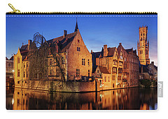 Bruges Architecture At Blue Hour Carry-all Pouch