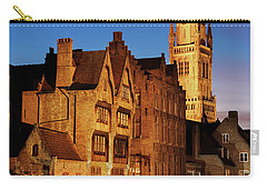 Bruges Belfry At Night Carry-all Pouch