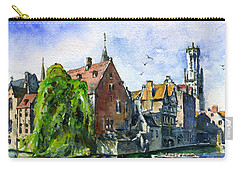 Bruges Belgium Carry-all Pouch by John D Benson