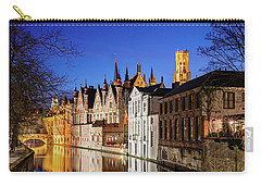 Bruges Canal At Night Carry-all Pouch