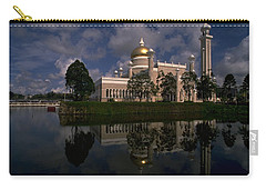 Carry-all Pouch featuring the photograph Brunei Mosque by Travel Pics