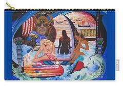 Blaa Kattproduksjoner     Two  Godessess Enjoying  The Nile Spa Carry-all Pouch