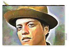 Bruno Mars Carry-all Pouch by Wayne Pascall