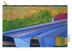 Brunswick River Bridge Carry-all Pouch by Paul McKey
