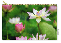 Carry-all Pouch featuring the photograph Brushed Lotus by Edward Kreis