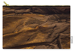 Carry-all Pouch featuring the painting Brushed With Gold by Nancy Kane Chapman
