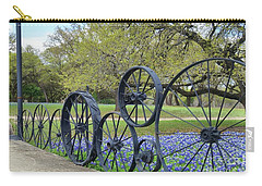 Brushy Creek Bluebonnets Carry-all Pouch by Janette Boyd