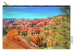 Carry-all Pouch featuring the photograph Bryce Canyon Artistry by John M Bailey
