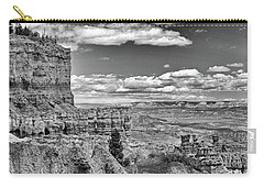 Bryce Canyon In Black And White Carry-all Pouch by Nancy Landry