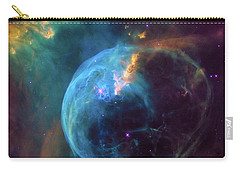 Carry-all Pouch featuring the photograph Bubble Nebula by Marco Oliveira