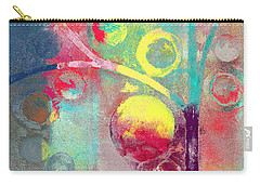 Carry-all Pouch featuring the painting Bubble Tree - 285l by Variance Collections
