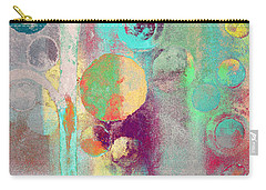 Carry-all Pouch featuring the digital art Bubble Tree - 285r by Variance Collections