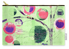 Carry-all Pouch featuring the digital art Bubble Tree - 224c33j5l by Variance Collections