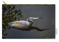 Bubbles And A Blue Heron Carry-all Pouch