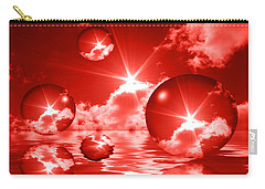 Carry-all Pouch featuring the photograph Bubbles In The Sun - Red by Shane Bechler