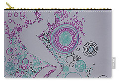 Carry-all Pouch featuring the drawing Bubbles by Marat Essex