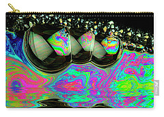 Carry-all Pouch featuring the photograph Bubbles Redux by Jean Noren