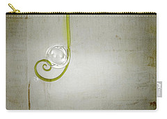 Carry-all Pouch featuring the digital art Bubbling - 02tt04a by Variance Collections
