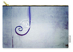 Carry-all Pouch featuring the digital art Bubbling - 033a by Variance Collections