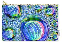 Carry-all Pouch featuring the digital art Bubbly by Andreas Thust
