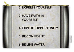 Buce Lee 10 Rules Of Success Carry-all Pouch