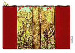 Buck And Deer  Carry-all Pouch