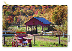Carry-all Pouch featuring the photograph Buck Board Ready For Fall Colors by Jeff Folger