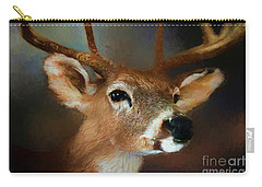 Carry-all Pouch featuring the photograph Buck by Darren Fisher