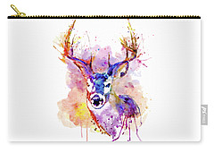 Carry-all Pouch featuring the mixed media Buck by Marian Voicu