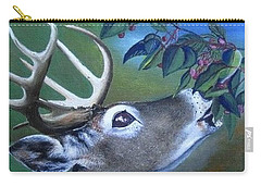 Carry-all Pouch featuring the painting Buck by Mary Ellen Frazee
