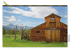 Buckaroo Barn In Rocky Mtn National Park Carry-all Pouch by John Roberts