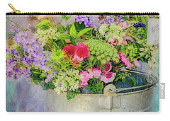 Bucket Of Flowers Carry-all Pouch