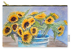Bucket Of Sunflowers Carry-all Pouch