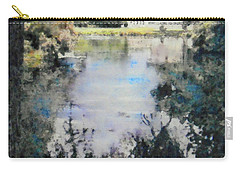 Carry-all Pouch featuring the painting Buckingham Palace Garden - No One by Richard James Digance
