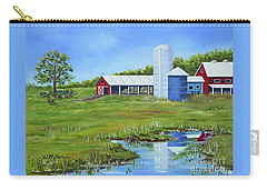 Bucks County Farm Carry-all Pouch by Val Miller