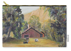 Carry-all Pouch featuring the painting Bucks County Pa Barn by Katalin Luczay