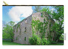 Carry-all Pouch featuring the photograph Bucks County Pa - Bridgetown Millhouse Ruins by Bill Cannon