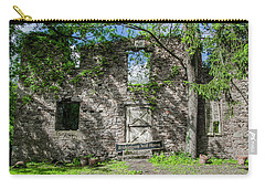 Bucks County Ruin - Bridgetown Mill House Carry-all Pouch by Bill Cannon