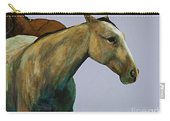 Carry-all Pouch featuring the painting Buckskin by Frances Marino