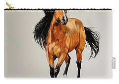 Buckskin Thoroughbred Carry-all Pouch by Cheryl Poland