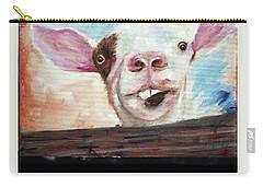 Bucktooth'd Goat Part Of Barnyard Series Carry-all Pouch