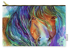 Bucky The Mustang In Watercolor Carry-all Pouch